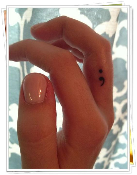 Semicolon is to encourage, love, and inspire