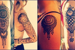 Shoulder Mehndi - Heena designs