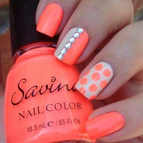 Summer perfect orange  nail