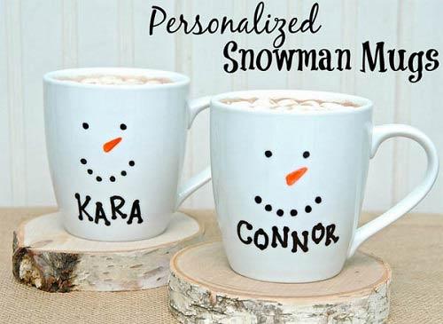personalized-snowman-mug