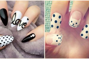 polka dots nail art ideas 2018