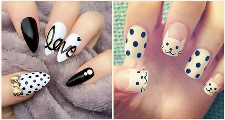 50 Different Polka Dots Nail Art Ideas That Anyone Can Diy