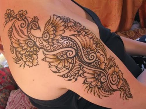 Shoulder Mehndi-Heena 14
