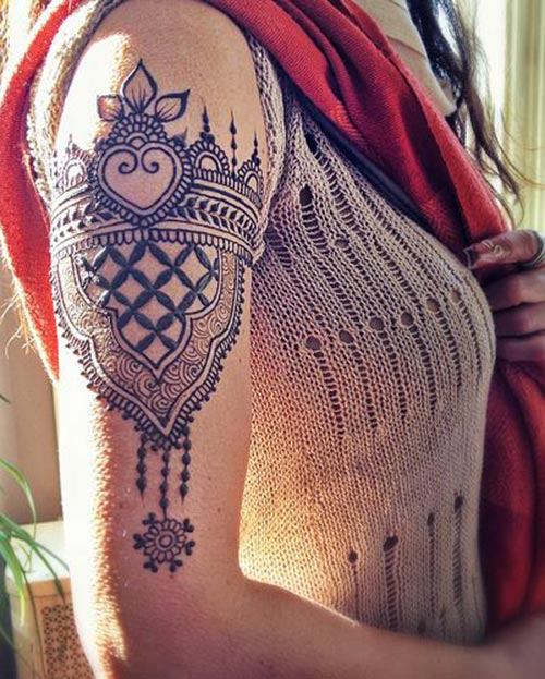 Shoulder Mehndi-Heena 9