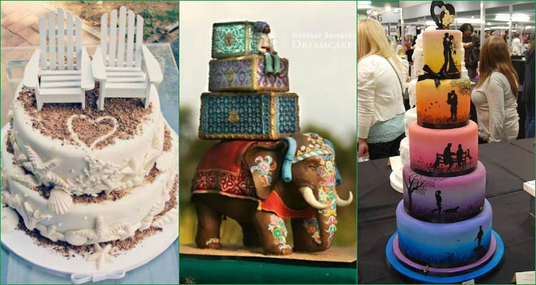 25 interestingly unique wedding cake ideas for your big day junglespirit Gallery