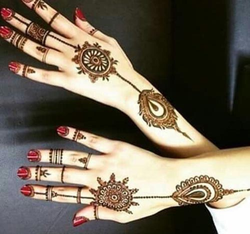 Back Hand Fingers Mehndi Design : Beautiful feather henna designs you will love to try