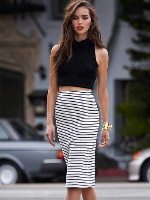 Get-the-classy-look-with-high-waist-pencil-skirt