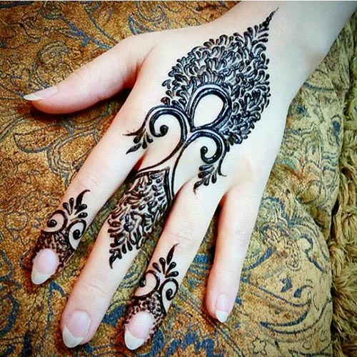 Intricately-designed-feather-Henna-designs