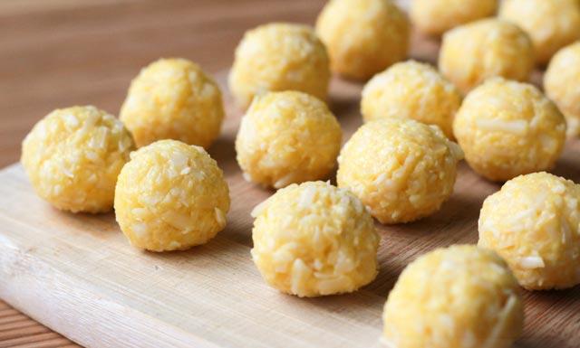 Mini Cheese Balls Pre Fry