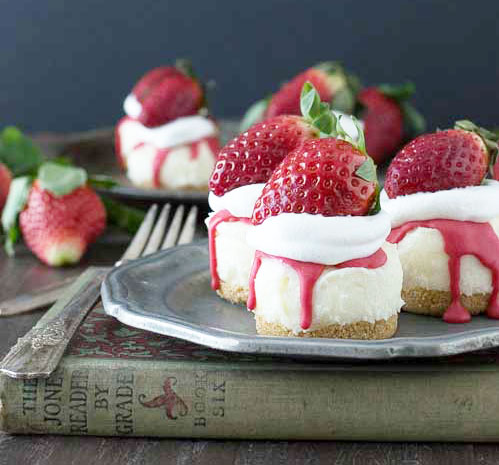 No Bake White Chocolate Strawberry Cheese