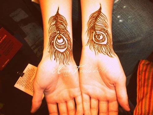 Peacock Henna Tattoo Designs