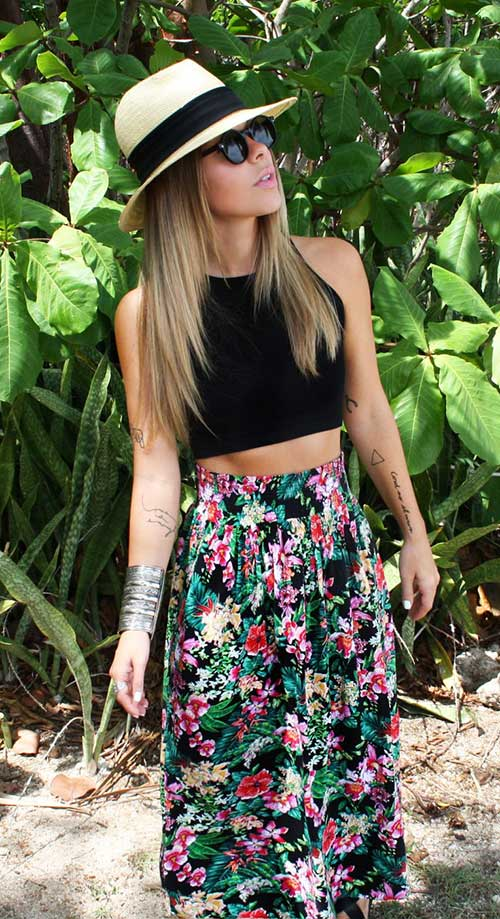 Team-up-with-flower-print-maxi-skirt