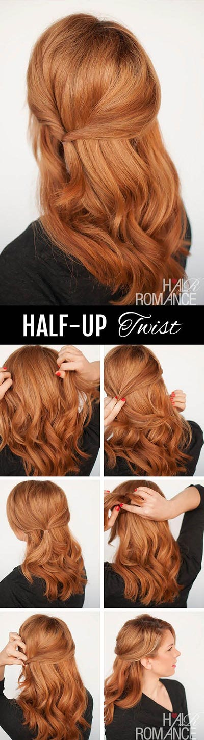30 most flattering half up hairstyle tutorials to rock any event half up half down hairstyles 24 solutioingenieria Image collections