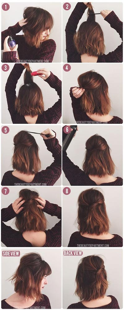 Fine 30 Most Flattering Half Up Hairstyle Tutorials To Rock Any Event Hairstyles For Women Draintrainus