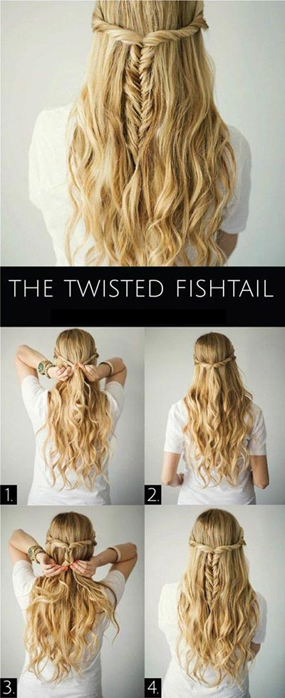 half-up-half-down-hairstyles tutorials