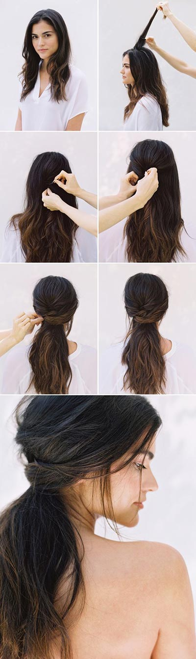 30 most flattering half up hairstyle tutorials to rock any event messy half up hairstyle tutorial solutioingenieria Image collections