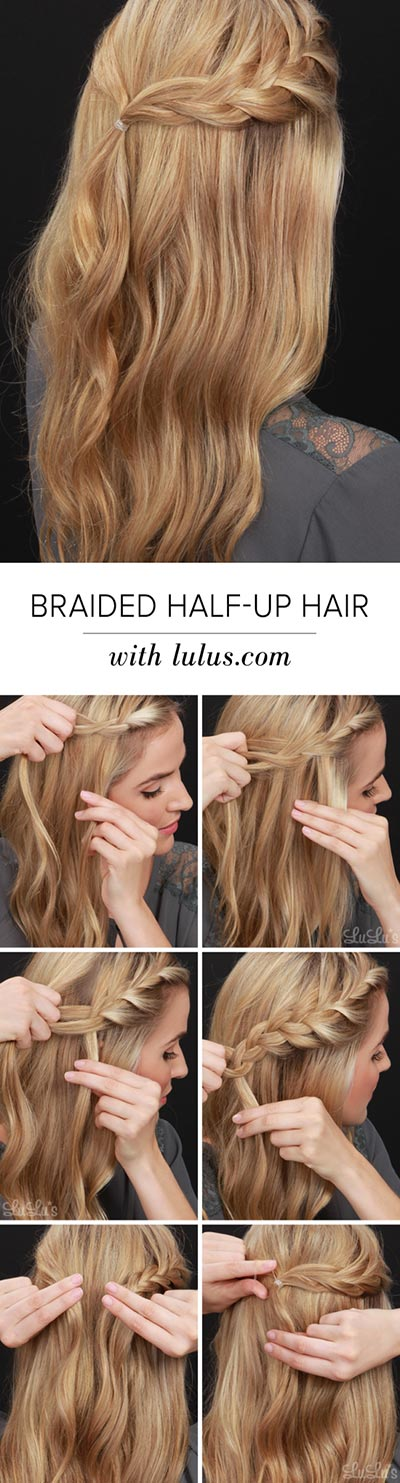 30 most flattering half up hairstyle tutorials to rock any event simple braided half up braid tutorial solutioingenieria Images