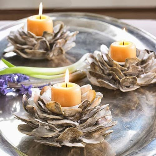 Oyster Candle holders