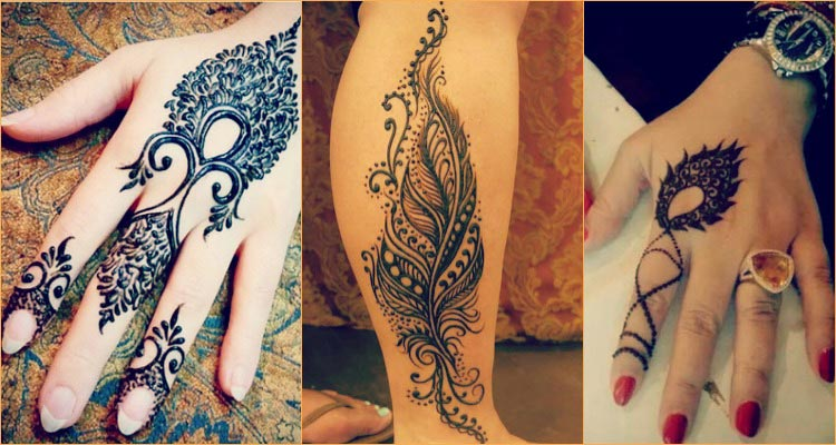 Mehndi Tattoo Peacock Feather : 19 beautiful feather henna designs you will love to try