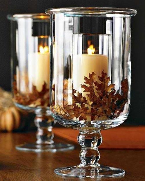 hurricane glass vase for candle holder