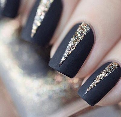 Classy nail design using strip tape