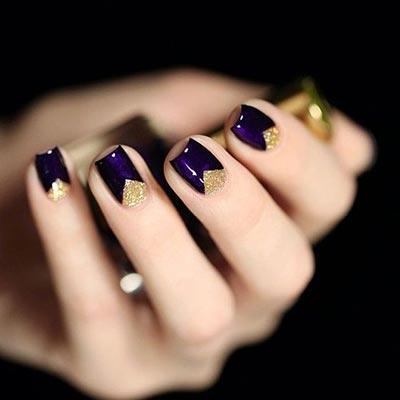 Cuticle triangle nail art