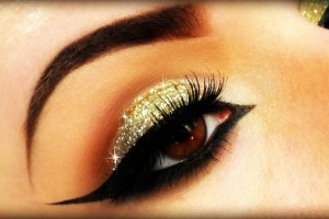 Gold smokey eye makeup tutorials