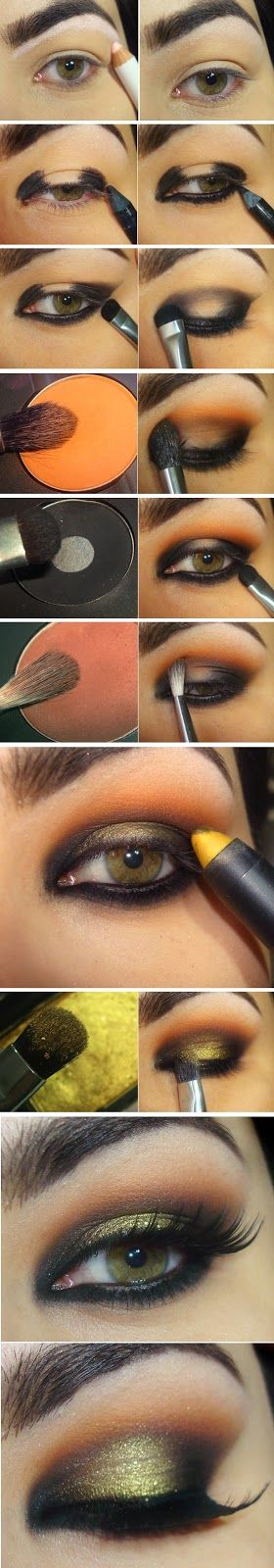 6 Most Glamorous Gold Smokey Eye Makeup Tutorials