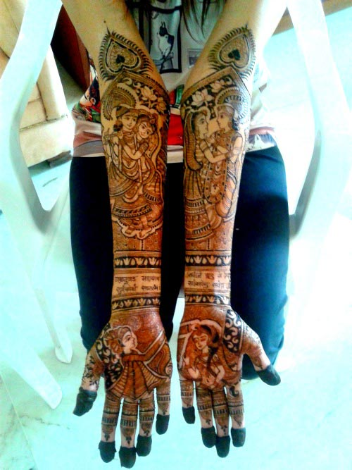 mehendi design for your weddding day