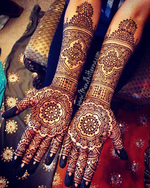 Mehndi Patterns For Brides : Best bridal hand mehndi designs for your wedding day