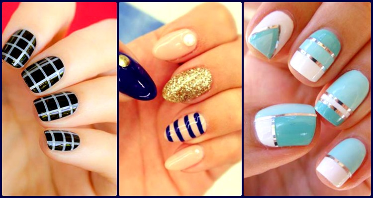 striped nail art designs - 20 Coolest Striped Striped Nail Art Designs And Ideas