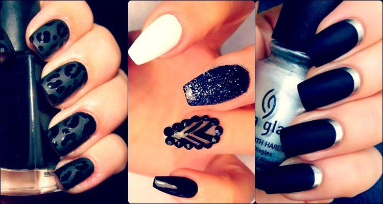 50 Sassy Black Nail Art Designs To Envy