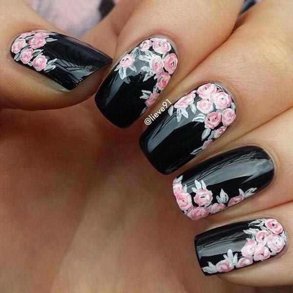 Black Nail Art: 50 Sassy Black Nail Art Designs To Envy