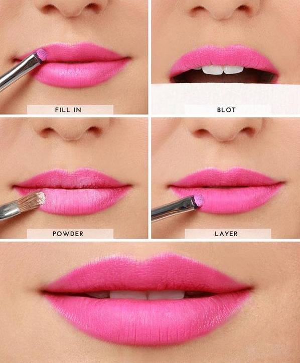 Tutorial to make Your Lipstick Last