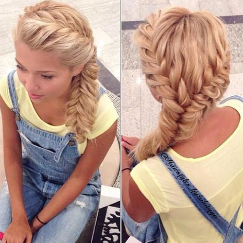 Swell How To Do Two French Fishtail Braids Braids Hairstyle Inspiration Daily Dogsangcom