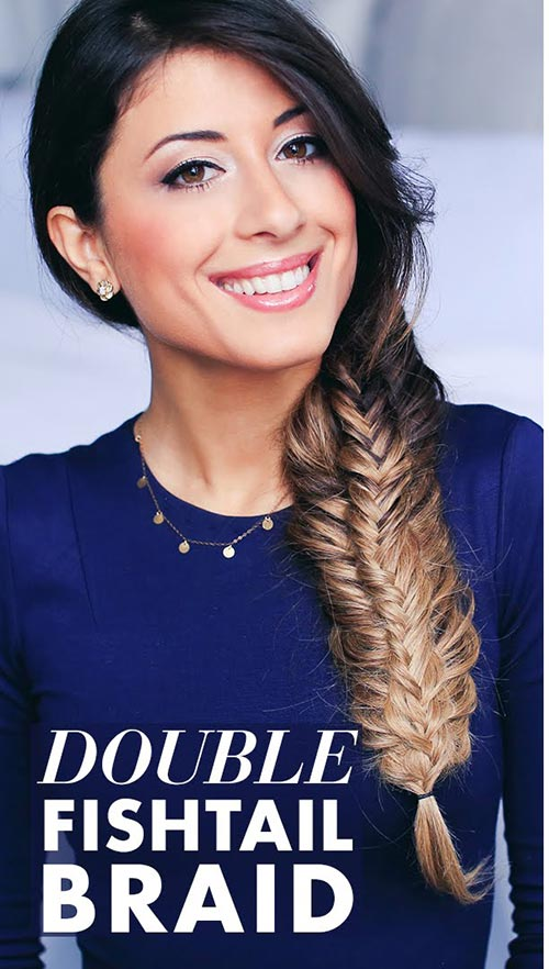double fishtail braid