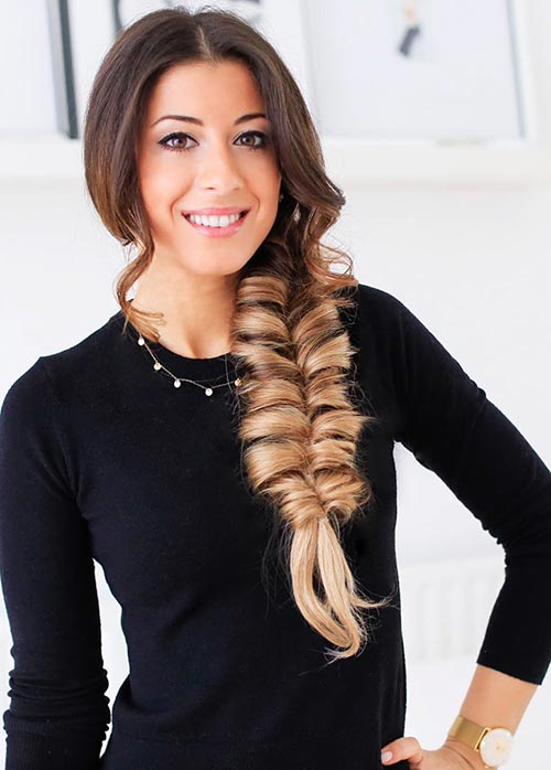 faux-fishtail-braid-hairstyle