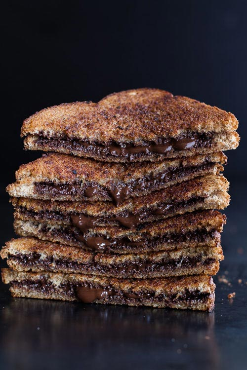 grilled cinnamon chocolate toast