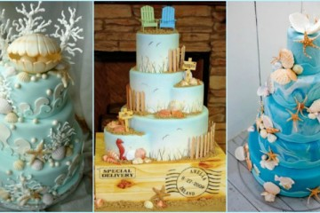 11 Designs Of Beach Wedding Cake
