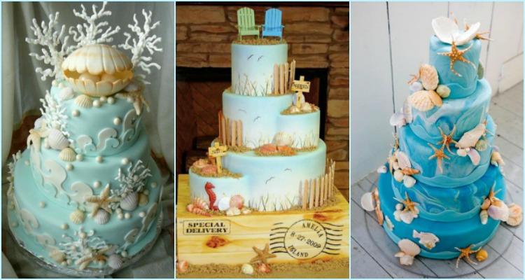 11 Designs Of Beach Wedding Cake
