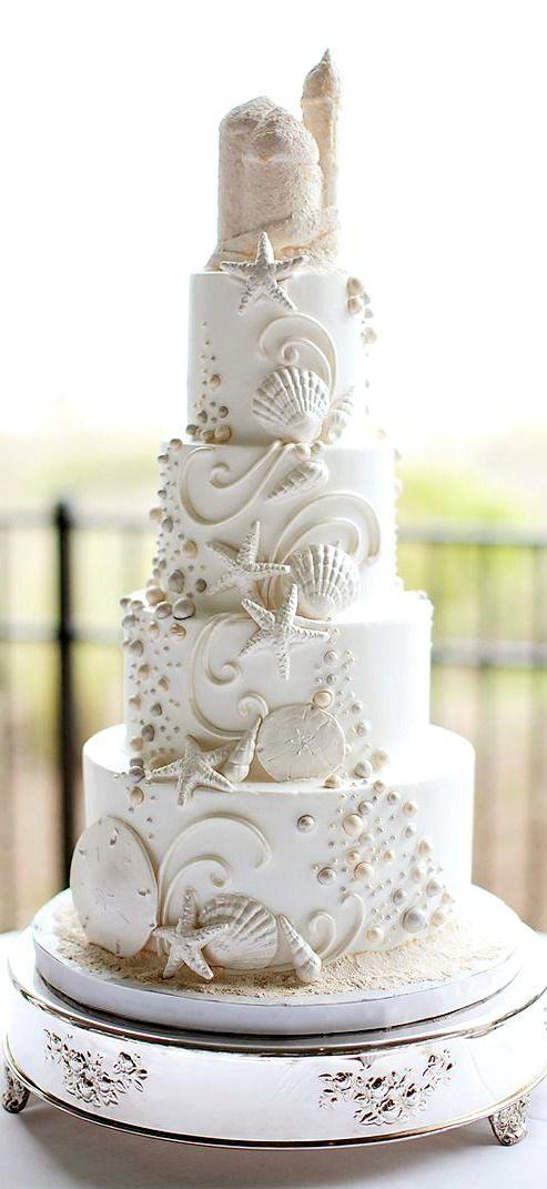 11 Spectacular Designs Of Beach Wedding Cake