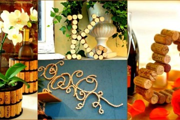 Beautiful Home Decor Items From Wine Corks