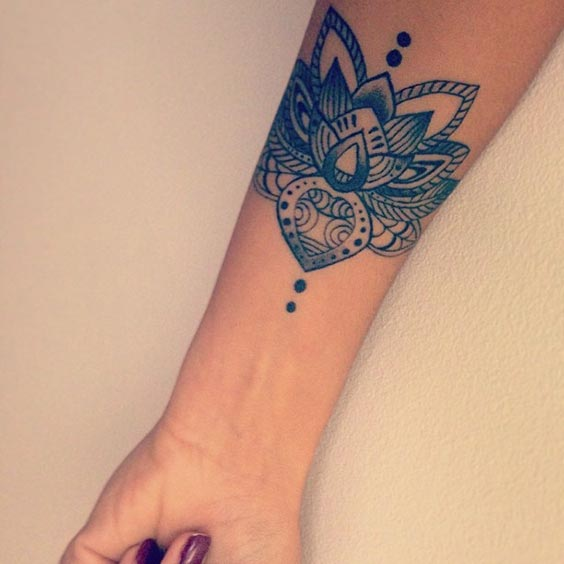 Lotus Tattoo on center of arm