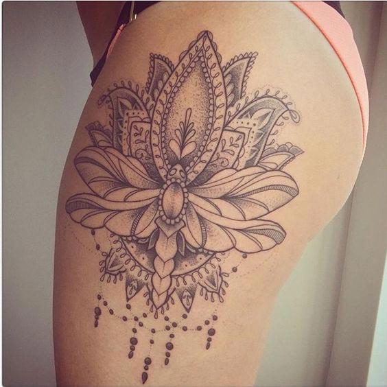 Tattoo on thigh