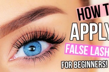 how to apply false eye lashes