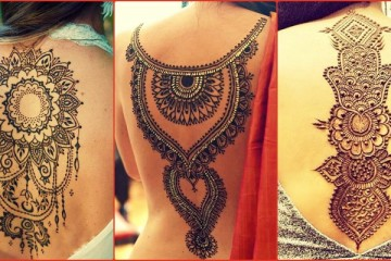 Back henna tattoos