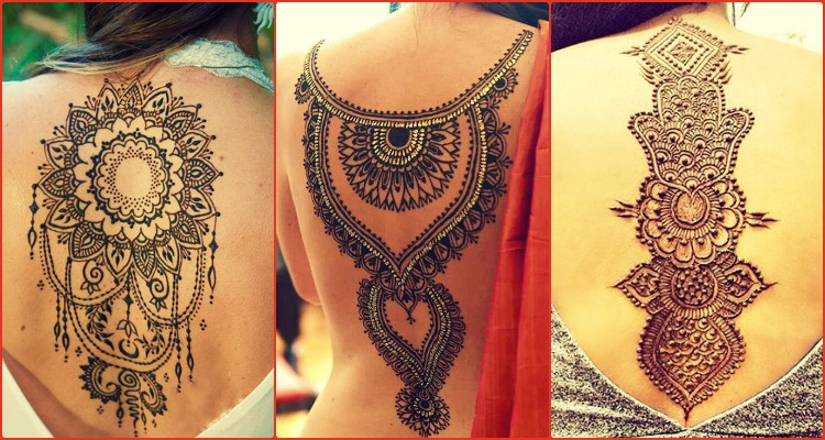 Henna Back Tattoo Drawing: 15 Back Henna Tattoos Meant For Henna Lovers