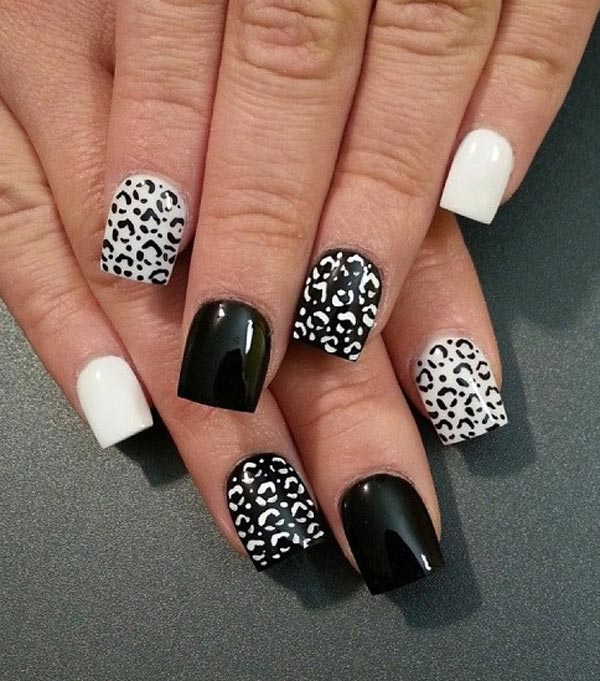 Black And White Nail Art - 15 Vibrant Leopard Nail Art Ideas And Tutorial