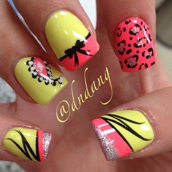 Bright Colors Nail Art