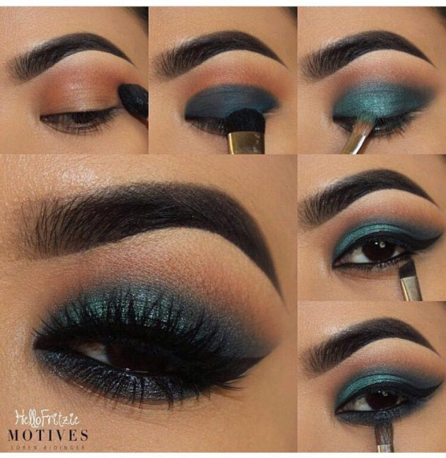 eye makeup tones of blue